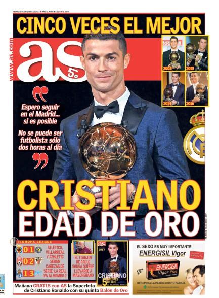 AS1面:Cristiano edad de oro (クリスティアーノ、ゴールデンエイジ)
