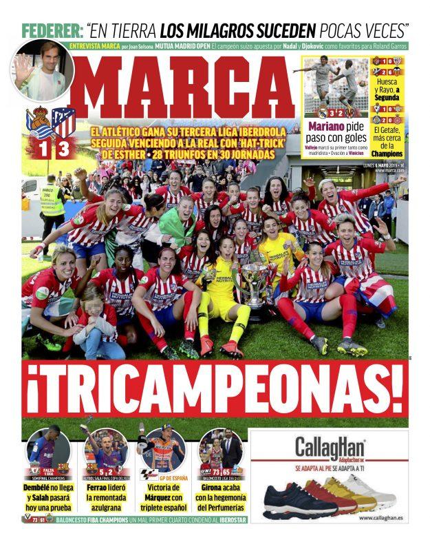 ビジャレアル戦翌日MARCA紙一面:Mariano pide paso con goles(マリアーノ、ゴールを決めステップアップを求む)
