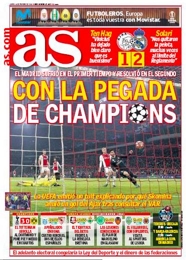 アヤックス戦一面AS:Con la pegada de Champions(CLでの決定力)